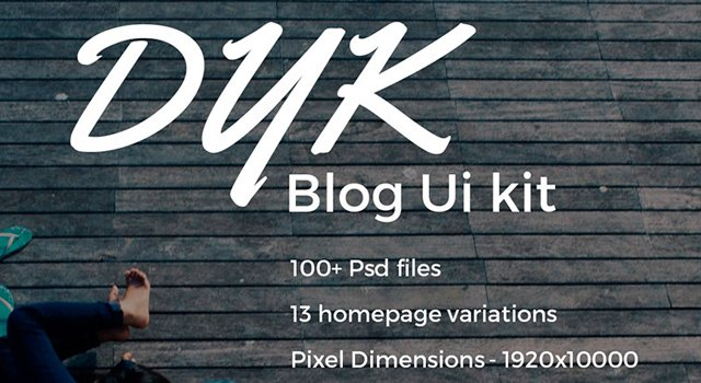 DYK: Blogging Photoshop UI Kit