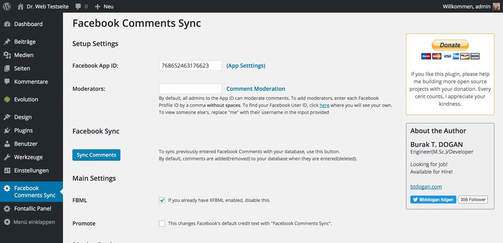 Facebook-Comments-Sync-Options