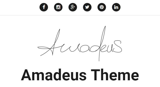 Amadeus: Music Related WordPress Theme