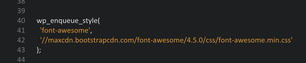 font-awesome-einbinden