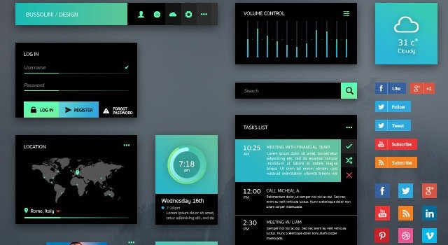 GreenLight: Web and Mobile Vector PSD UI Kit