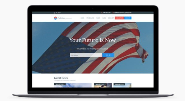 Politics-ready WordPress Theme