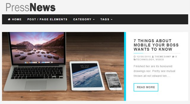 PressNews: Magazine WordPress Theme