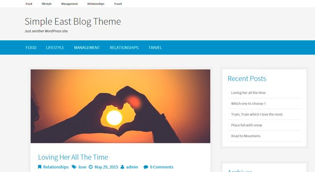 Simple East: Clean & Flat Blogging WordPressTheme