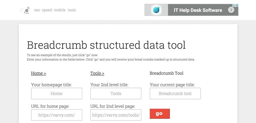 Breadcrumb-structured-data-tool