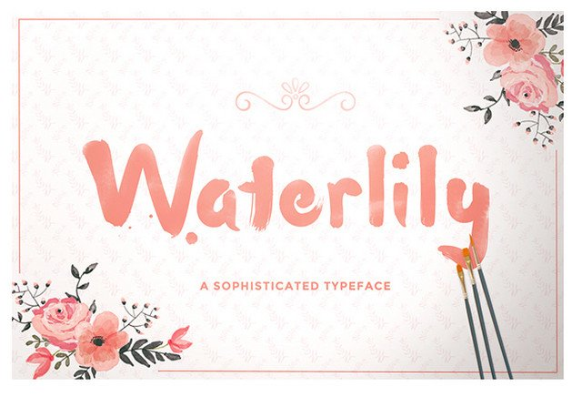 waterlily font