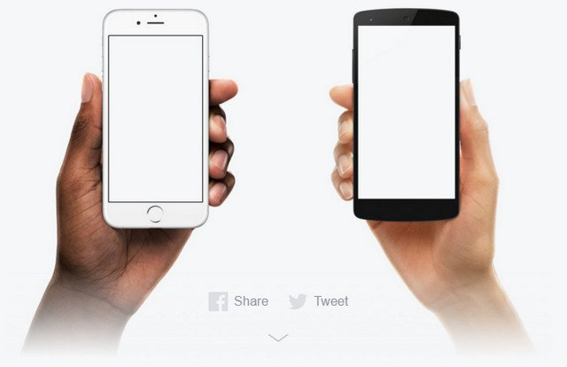 iphone in a hand