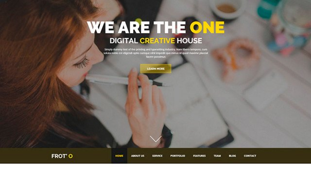 Froto: One-page Agency Template