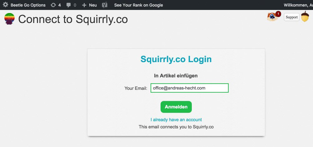 Squirrly Registration