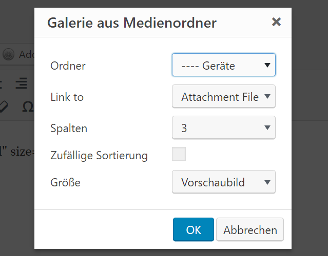 WordPress Real Media Library: flexible Einbindung aus dem visuellen Editor heraus