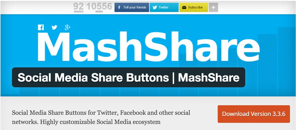 Mashshare Plugin für WordPress