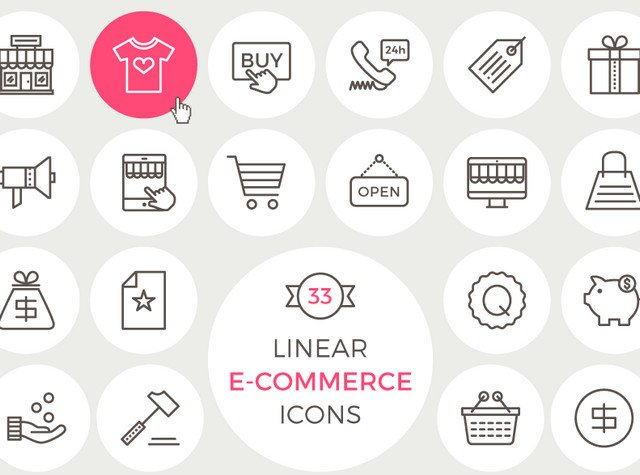linear-ecommerce-icons