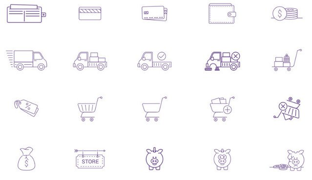 outline-ecommerce-icons