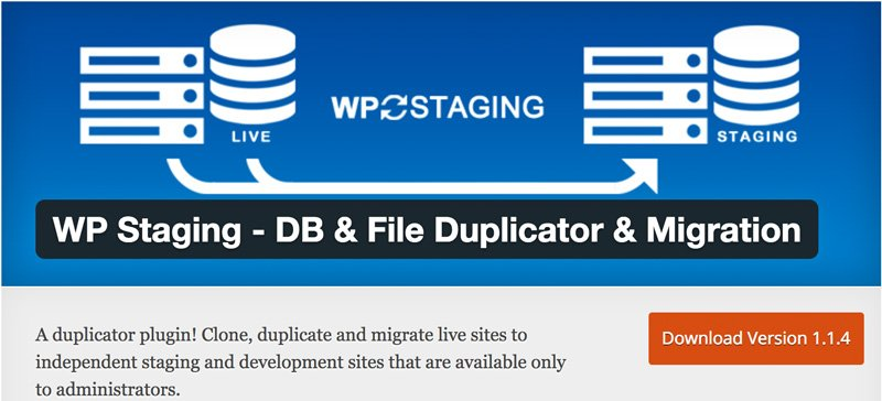 WP Staging - DB & File Duplicator & Migration