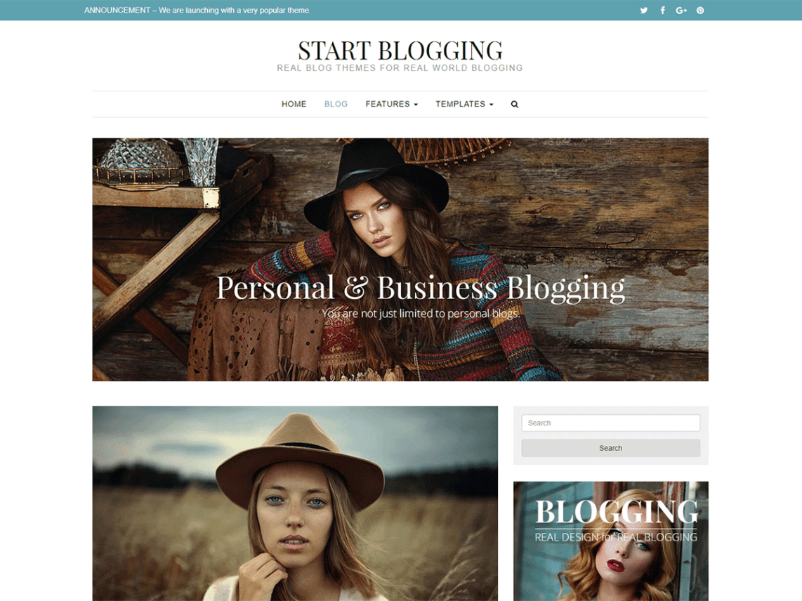 Start Blogging Theme