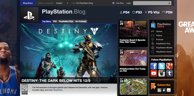 Der offizielle US Sony Playstation Blog