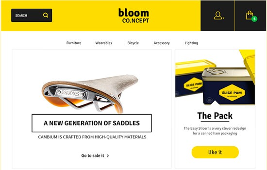 Bloom e-commerce PSD template