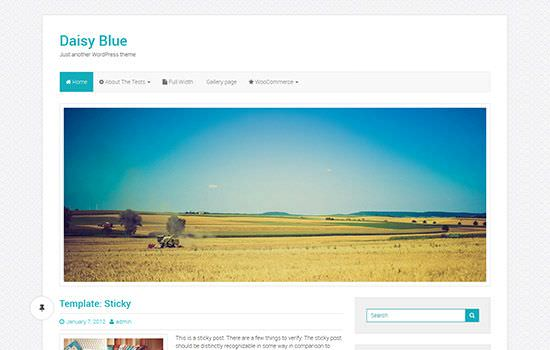Daisy blue WP theme