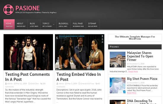 Pasione WP theme