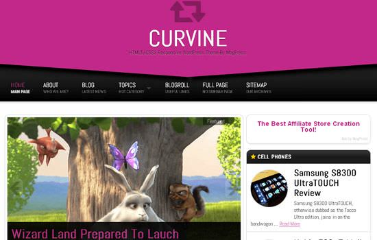 Curvine WP theme