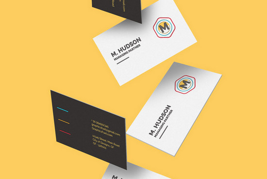 falling business cards