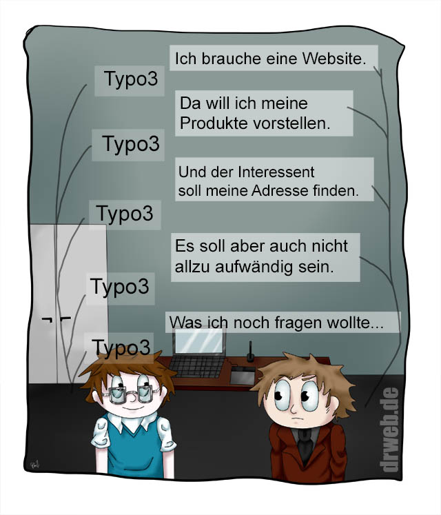 "Cartoon: das ""One-Size-Fits-All""-Problem"