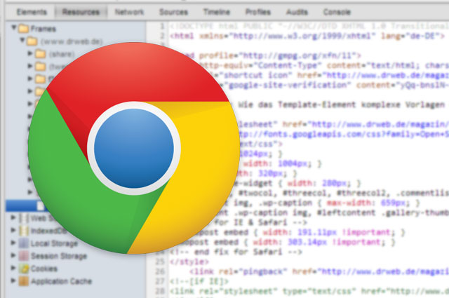 Chrome-Entwicklertools mobil: Touch-Events und Geolocation am Desktop emulieren