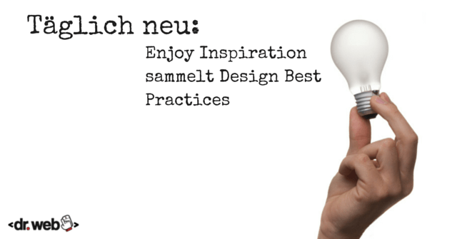 Täglich neu: Enjoy Inspiration sammelt Design Best Practices