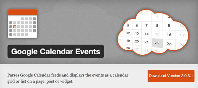 Das Google Calendar Events Widget für WordPress
