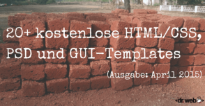 HTML-, CSS-, PSD-Templates April 2015