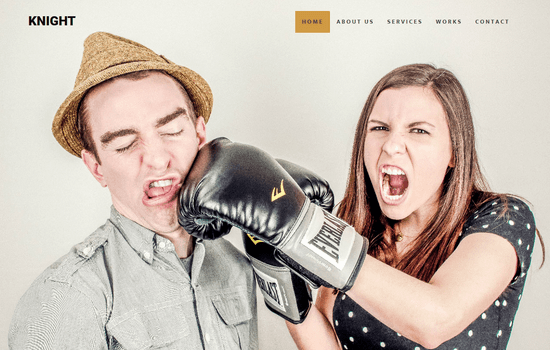 KNIGHT: One Page Bootstrap Template