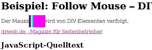 Follow Mouse - Divs