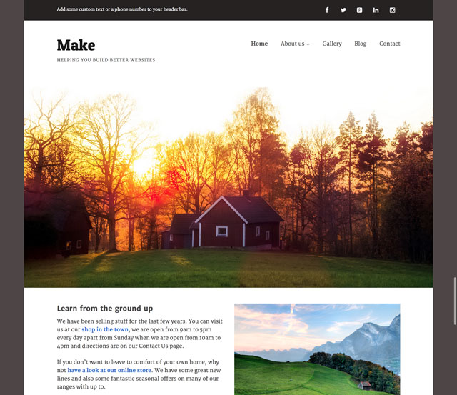 Das Make Theme für WordPress