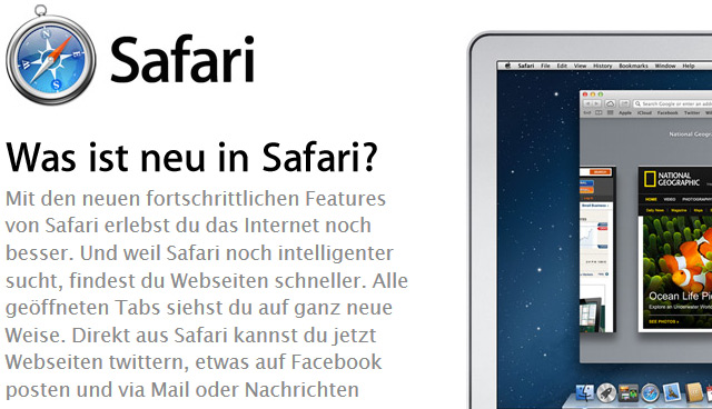 Apple Safari per Shortcut: Alle Tastenkürzel in deutscher Sprache