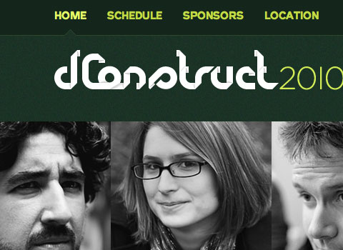 dConstruct 2010 website on a desktop browser
