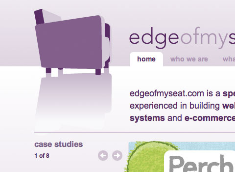 edgeofmyseat.com website in Safari on the desktop