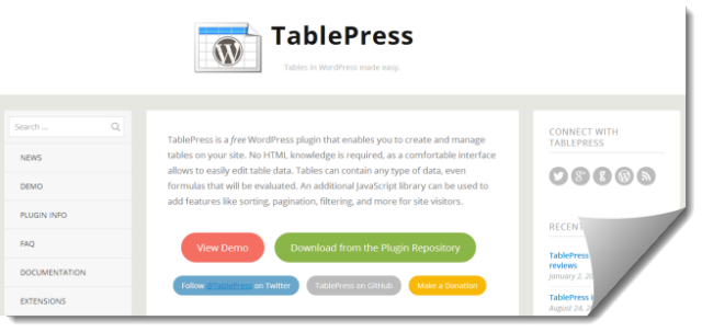 TablePress, die eierlegende Wollmilchsau für Datentabellen in WordPress