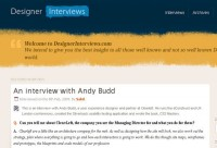 Designer Interviews