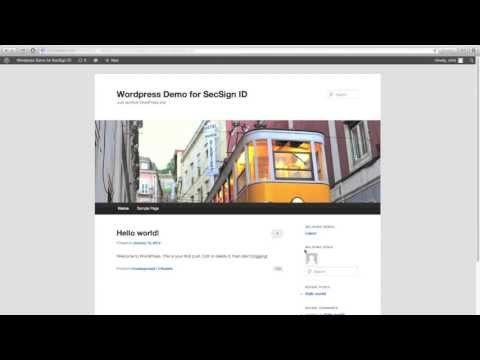 How to log-in to WordPress with the SecSign ID