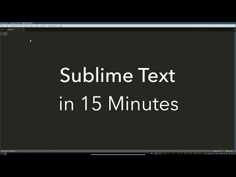 Sublime Text Basics: All the Best Features in One Video