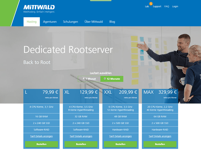Mittwald: Dedicated Rootserver
