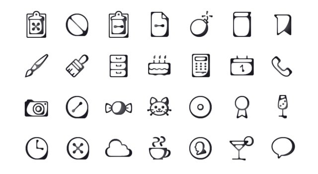 Inkallicons: Free Ink Line-traced Vector Icons