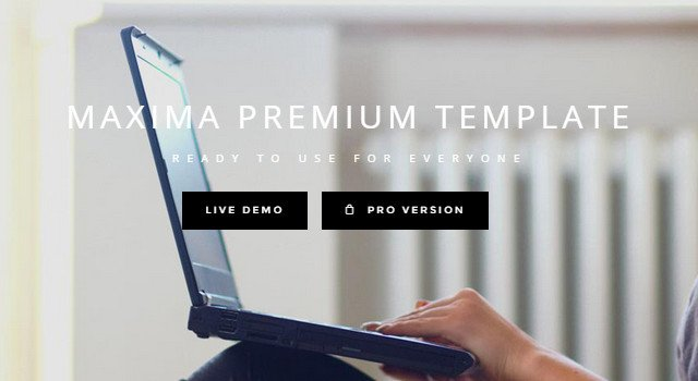 Maxima: Responsive Business Bootstrap Template
