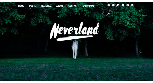 Neverland: Personal Blogging WordPress Theme