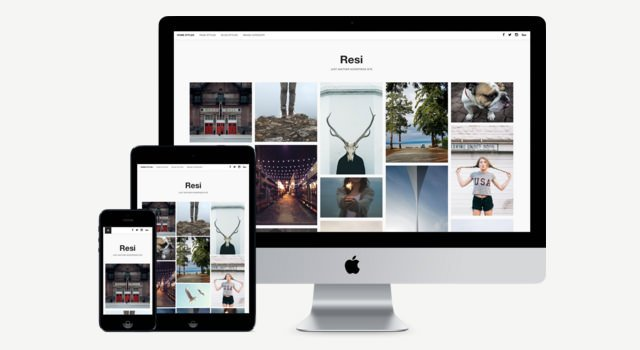 Resi: Clean Photoblog WordPress Themes