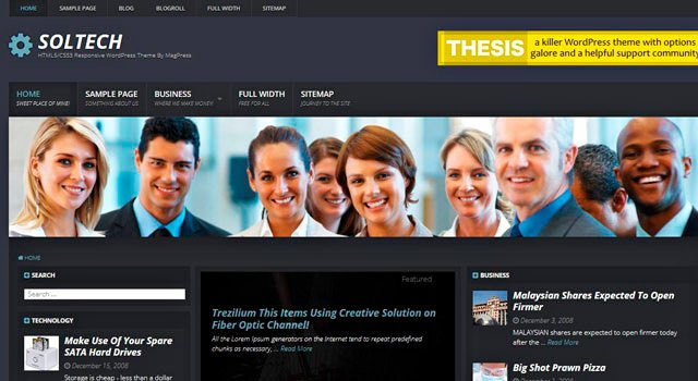 Soltech: Business Blogging WordPress Theme
