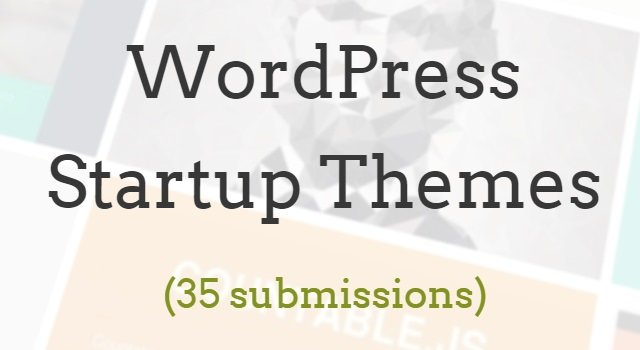Startup WordPress Themes Curated List