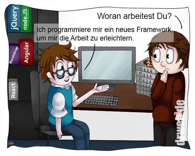 Cartoon: Neues Framework...