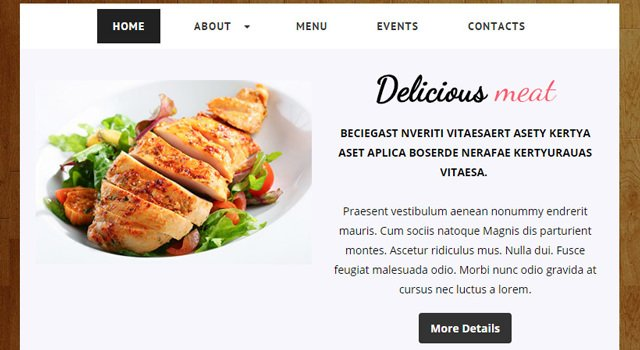 ZGoodFood: Restaurant Responsive HTML Template