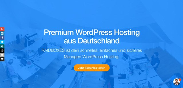 Raidboxes - Premium WordPress Hosting aus Deutschland